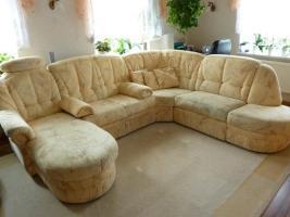 Foto 2 Couchgarnitur mit Schlaffunktion und Sessel
