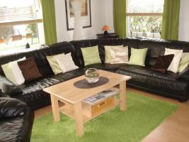 Couchgarnitur mit Sessel, Leder