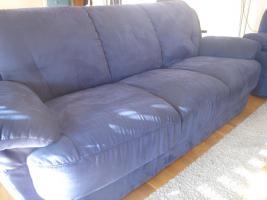 Couchgarnitur dunkelblau
