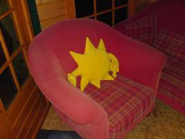 Foto 2 Couchgarnitur gebraucht, Federkern, Cord-Optik