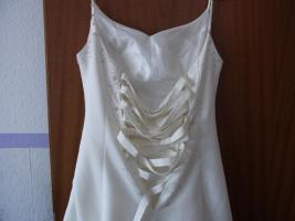 Foto 2 Creme farbenes Hochzeitskleid in der Größe 40