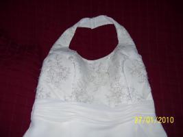 Foto 3 Cremefarbenes Brautkleid in der 34.SSW getragen, kein Umstandskleid
