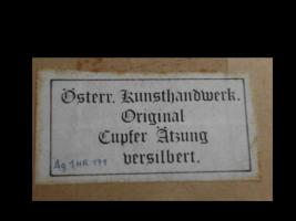Foto 4 Cupfer-Ätzung (Original) versilbert