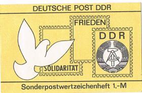 Foto 2 DDR Sonderpostwertzeichenheft 1, - M ! !