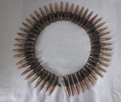 DEKO - MG Munitionsgurt mit 50 Patronen - Original - 2. Weltkrieg