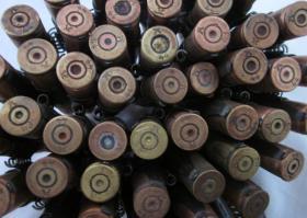 Foto 3 DEKO - MG Munitionsgurt mit 50 Patronen - Original - 2. Weltkrieg