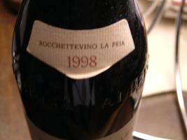 Foto 4 DOLCETTO D`ALBA ROCCHETTEVINO LA PRIA 1998