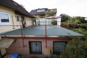Terrassensanierung saniert Farbton grün Sanierungstechnik Fautz