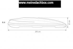 Foto 5 Dachbox Hapro Zenith 8.6 Test Gut 440 L ( bis 8 Paar Ski )