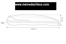 Foto 2 Dachbox , Hapro , Traxer 8.6,  Anthracite (530 Liter) Test AutoMotorsport GUT Dachbox