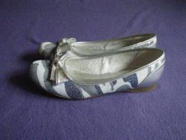 Foto 2 Damen-Ballerinas silber-blau Gr. 40