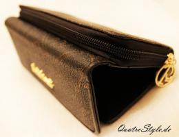 Damen Geldbörse von Giulia Pieralli in Schwarz Designer Portemonnaie Geldbörse