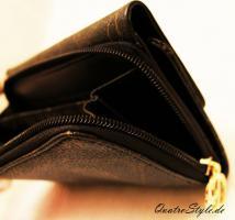 Foto 2 Damen Geldbörse von Giulia Pieralli in Schwarz Designer Portemonnaie Geldbörse