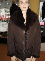 Damen Jacke  mit  Pelz kragen