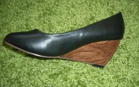 Foto 6 Damen Keilabsatz Schuhe Pumps Schwarz High Heels 37
