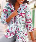 Damen Long Bluse Damenbluse Hemd 40 48