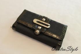 Damen Marken Portemonnaie Gamaya in Schwarz Geldbeutel Geldbörse
