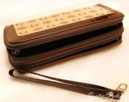 Foto 3 Damen Portemonnaie Gamaya in Beige mit umlaufendem Rei�verschluss