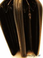 Foto 4 Damen Portemonnaie Gamaya in Grau mit umlaufendem Reißverschluss
