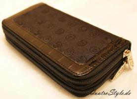 Damen Portemonnaie Gamaya in Schwarz mit umlaufendem Reißverschluss