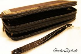 Foto 2 Damen Portemonnaie Gamaya in Schwarz mit umlaufendem Reißverschluss