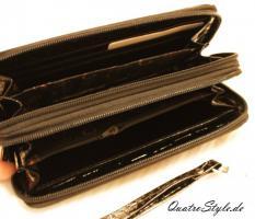 Foto 3 Damen Portemonnaie Gamaya in Schwarz mit umlaufendem Reißverschluss