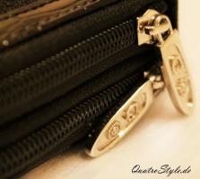 Foto 5 Damen Portemonnaie Gamaya in Schwarz mit umlaufendem Reißverschluss