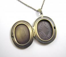 Foto 2 ' Damen Porträt ' Amulett Kette