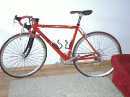 Foto 2 Damen Rennrad rot & neuwertig