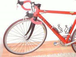 Foto 3 Damen Rennrad rot & neuwertig