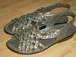 Damen Sandalen silber Gr. 40