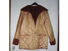 Damen Winterjacke Gr. 38 orange beidseitig tragbar