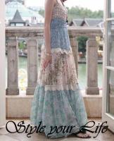Damen langes Sommerkleid