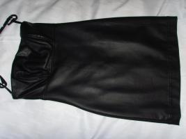 Damenkleid, M�dchenkleid, Kunstleder Kleid, schwarz, Gr: XS, von C&A