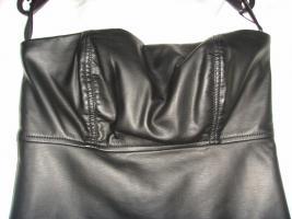 Foto 2 Damenkleid, M�dchenkleid, Kunstleder Kleid, schwarz, Gr: XS, von C&A