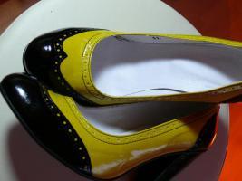 Foto 2 Damenpumps schwarz/gelb gr 41
