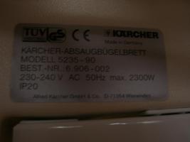 Foto 4 Dampf-B�geltisch u. Dampf-B�geleisen von K�rcher