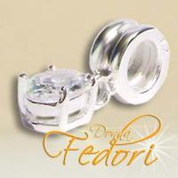 Dangle Oval Crystal I 925 Sterling Silber, Zirkonia
