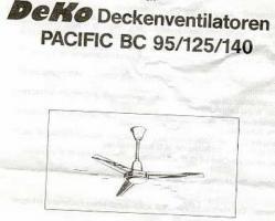 Decken-Ventilator,  schwarz