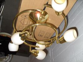 Foto 2 Deckenlampe vergoldet und Decken-Strahler in Weiss