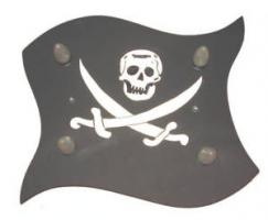 Deckenlampe, Piratenlampe