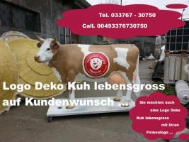 Dein Nachbar hat ne Deko logo Kuh vor seiner Firma und Du als firmen Chef noch nicht … ok. dann bestell Dir auch deine eigene Logokuh