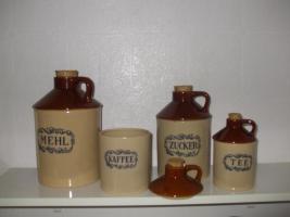 Dekorative Aufbewahrungsgefäße für Mehl, Zucker, Kaffee, Tee aus Keramik