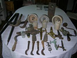 Dekorative Objekte aus Weingutauflösung