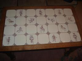 Foto 3 Delft Fliesen Kacheln Tisch Wohnzimmer antik violett