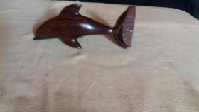 Delphin aus echt holz