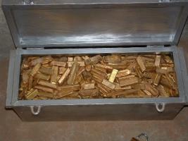Foto 3 Der Verkauf von Goldbarren und Gold-Staub
