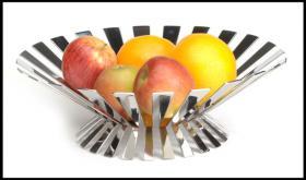 Foto 2 Design Obstschale aus Edelstahl, Fruchtschale