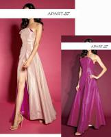 Designer-Abend-Wendekleid apricot-pink Gr. 38 - OVP - NEU