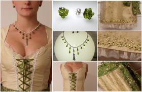 Designer-Brautdirndl mit Swarovskikristall-Schmuck